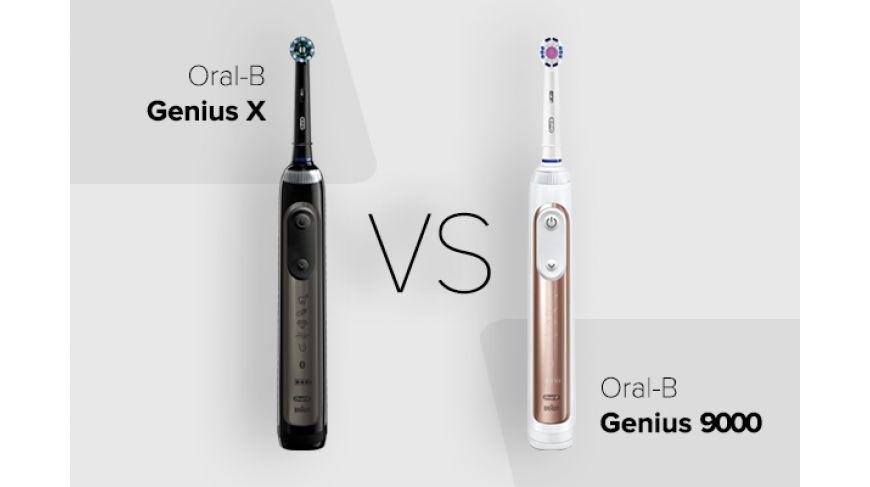 Oral-B Genius X против Genius 9000